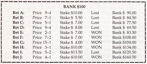 staking plan for place betting